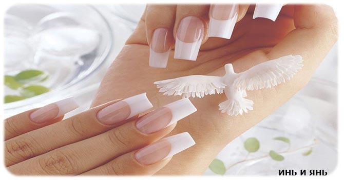 красивые ногти у девушки
