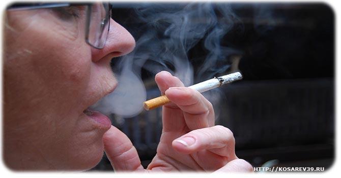 Вред никотина на кожу