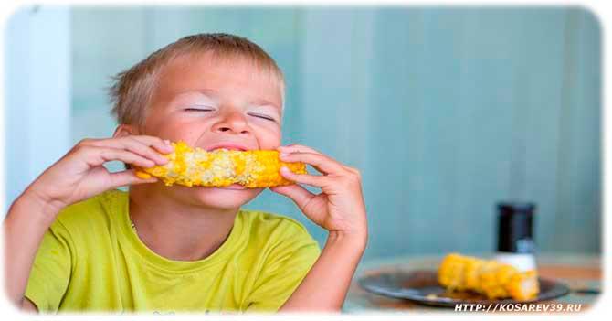Польза кукурузы для детей