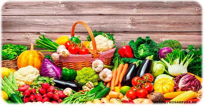 Фрукты и овощи для очищения