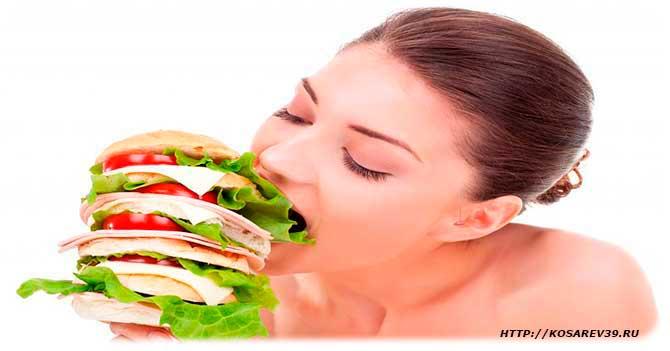 Виды пищевой зависимости