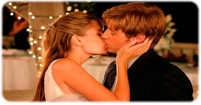 Приятный и нежный поцелуй