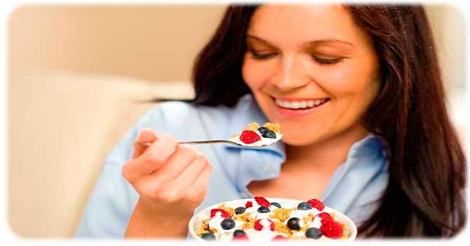 Йогурт на завтрак