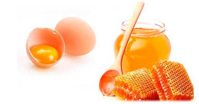 Медовая маска с яйцом