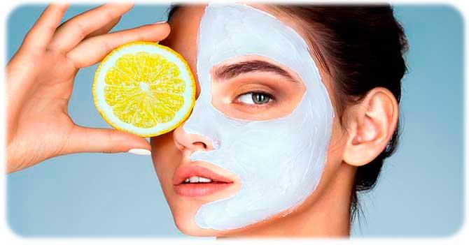 Отбеливающая маска для комбинированной кожи