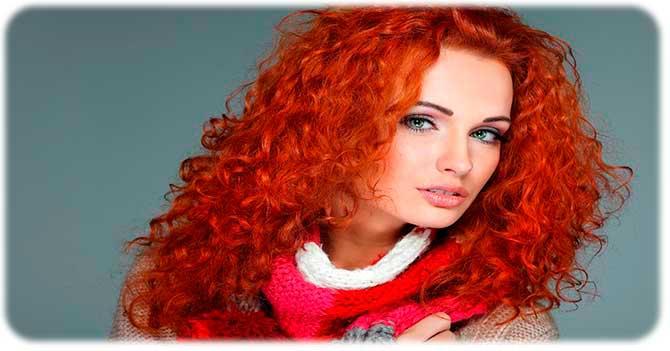 Окрашивание волос в рыжий цвет