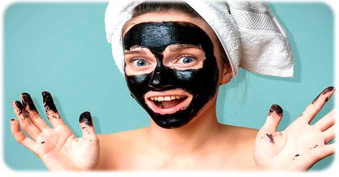 Маска с углем для кожи лица