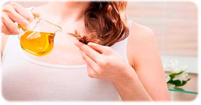 Желатин и масло для волос