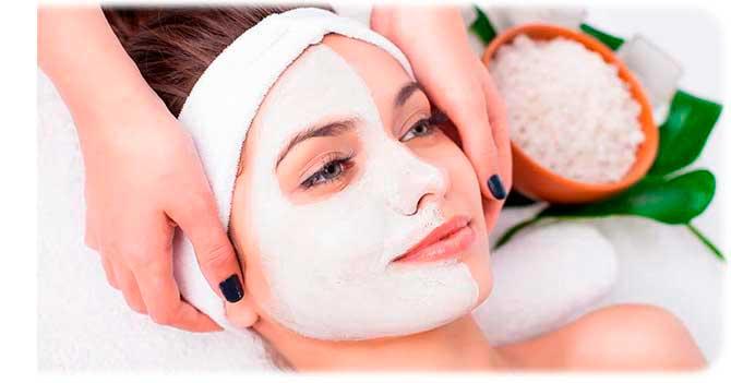 Крахмальная маска для лица