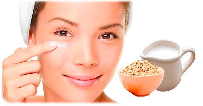 Маска со сливками для кожи вокруг глаз