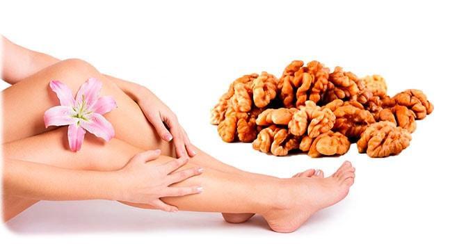 Эпиляция с грецким орехом