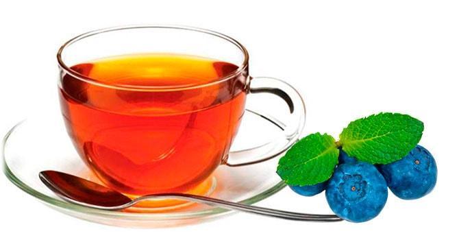 Чай с черникой