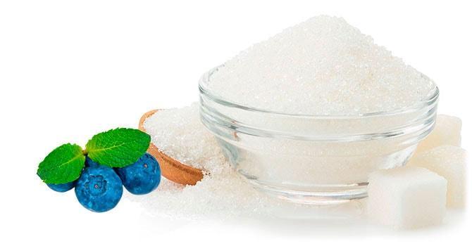 Черника с сахаром