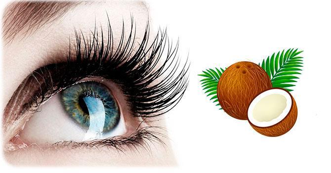 Польза масла кокоса для ресниц