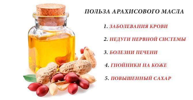 Польза масла арахиса