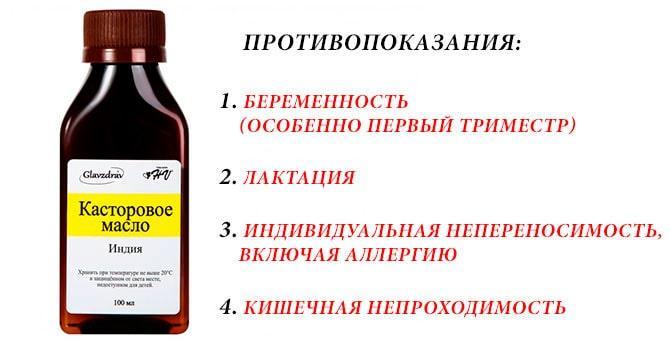 Вред касторового масла