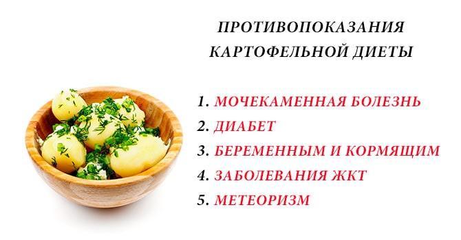 Минусы картофельной диеты