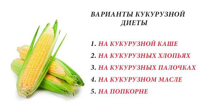 Варианты кукурузной диеты