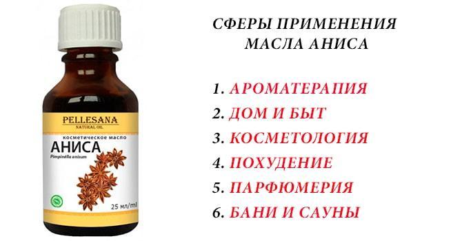Сферы применения масла аниса