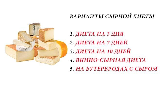 Варианты сырной диеты